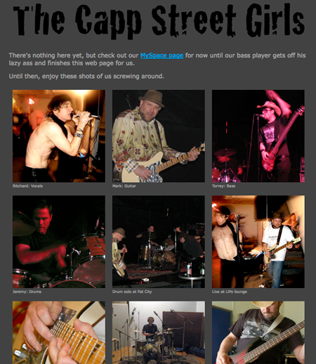 The Capp Street Girls Website thumbnail