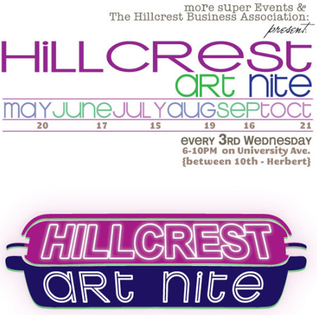 Hillcrest Art Nite flyer