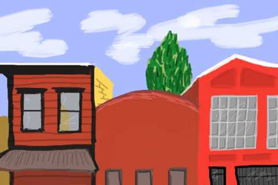This was drawn on my iPhone sitting at Brainwash Cafe in the SoMA district of San Francisco one fine day before I skipped town.